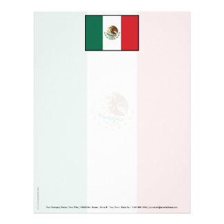 Bandera llana de México Membrete A Diseño