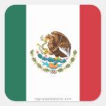 Bandera llana de México Pegatina Cuadrada