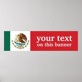 Bandera llana de México Póster