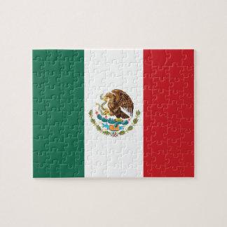 Bandera llana de México Puzzle Con Fotos
