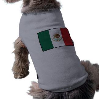 Bandera llana de México Camisas De Perritos