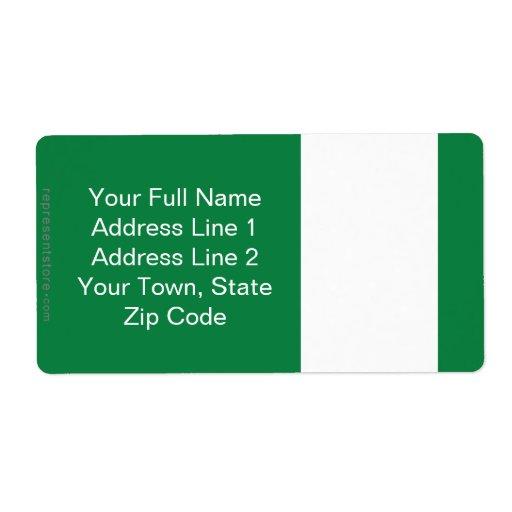 Bandera llana de Nigeria Etiquetas De Envío