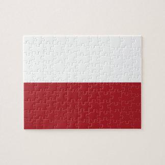 Bandera llana de Polonia Puzzle Con Fotos