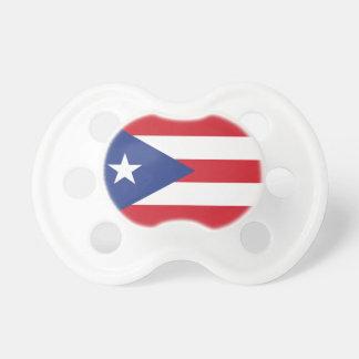 Bandera llana de Puerto Rico Chupete De Bebe