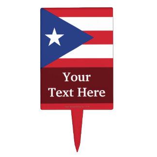 Bandera llana de Puerto Rico Figuras De Tarta