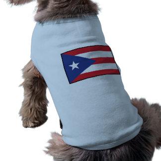 Bandera llana de Puerto Rico Playera Sin Mangas Para Perro