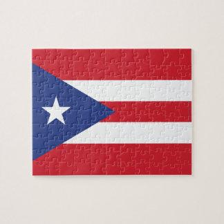 Bandera llana de Puerto Rico Rompecabeza Con Fotos