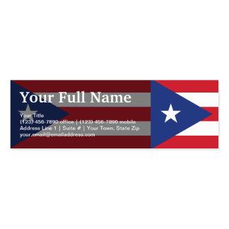 Bandera llana de Puerto Rico Tarjetas De Visita Mini