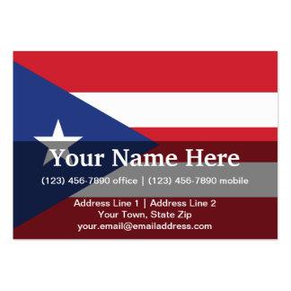 Bandera llana de Puerto Rico Tarjetas De Visita Grandes