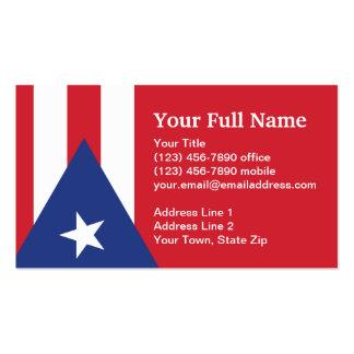 Bandera llana de Puerto Rico Tarjetas De Visita