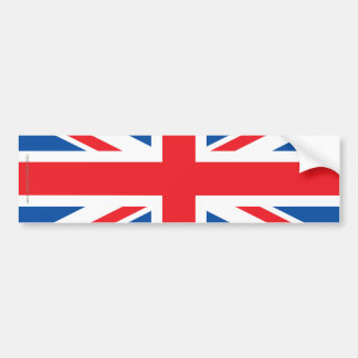 Bandera llana de Reino Unido Pegatina Para Auto