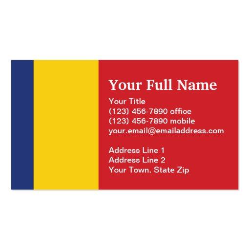 Bandera llana de Rumania Tarjetas De Visita