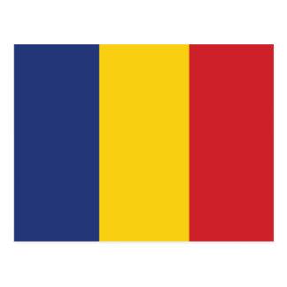 Bandera llana de Rumania Tarjetas Postales