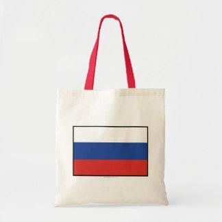 Bandera llana de Rusia Bolsas De Mano