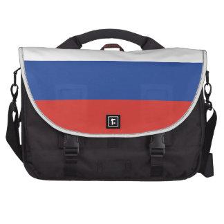 Bandera llana de Rusia Bolsas Para Ordenador