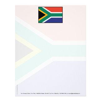 Bandera llana de Suráfrica Membretes Personalizados
