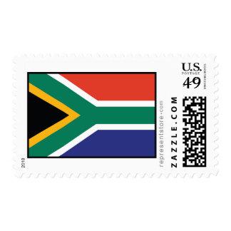 Bandera llana de Suráfrica Timbre Postal