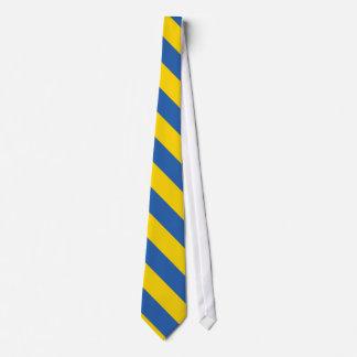 Bandera llana de Ucrania Corbata Personalizada