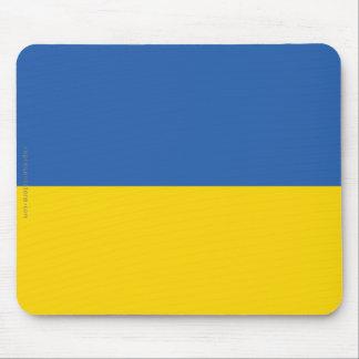 Bandera llana de Ucrania Mousepad