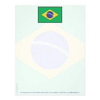 Bandera llana del Brasil Membrete Personalizado