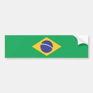Bandera llana del Brasil Pegatina Para Auto