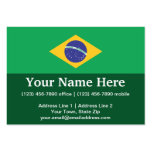 Bandera llana del Brasil Tarjeta De Visita
