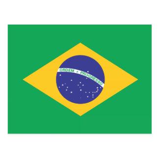 Bandera llana del Brasil Postal