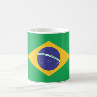 Bandera llana del Brasil Taza