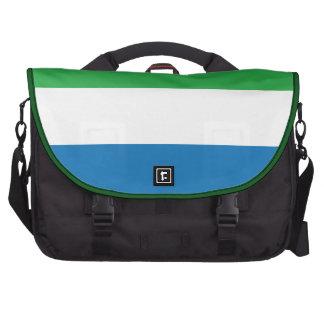 Bandera llana del Sierra Leone Bolsas Para Portatil