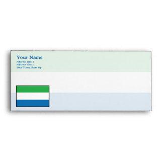 Bandera llana del Sierra Leone Sobre