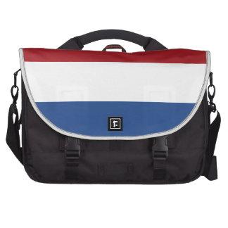 Bandera llana holandesa bolsas de portatil
