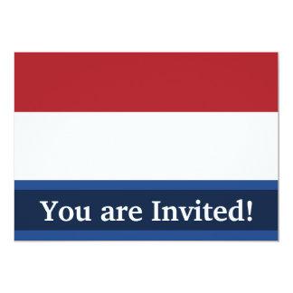 """Bandera llana holandesa invitación 5"""" x 7"""""""