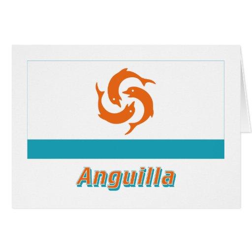 Bandera local de Anguila con nombre Felicitación