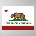 bandera Long Beach de California Posters