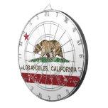 bandera Los Ángeles de California apenado Tablero Dardos
