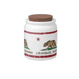 bandera Los Ángeles de California apenado Platos Para Caramelos
