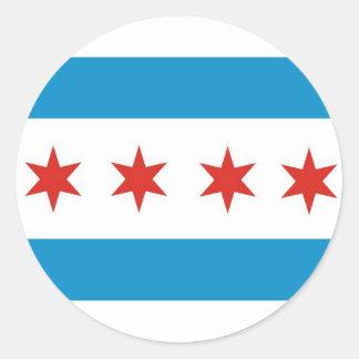 bandera los E E U U América de la ciudad de Chica Etiquetas