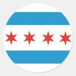 bandera los E.E.U.U. América de la ciudad de Etiquetas Redondas
