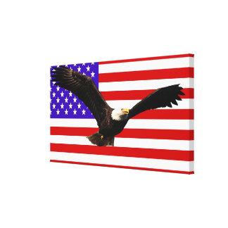 Bandera los E.E.U.U. americanos de América Lienzo Envuelto Para Galerias
