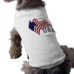 Bandera los E.E.U.U. Camisa De Perrito