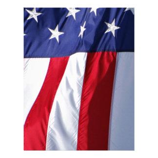 Bandera los E E U U Plantilla De Membrete