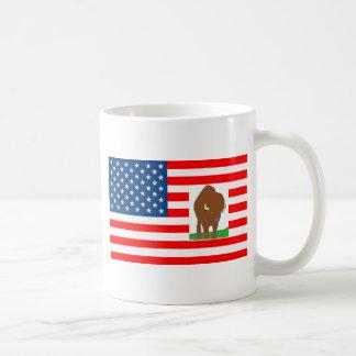BANDERA LOS EE.UU BISONTE 1.PNG TAZAS DE CAFÉ