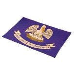 Bandera Louisianan del modelo del vintage Manteles Individuales