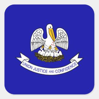 Bandera Louisianan Pegatina Cuadrada
