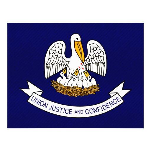 Bandera Louisianan pelada moderna Tarjeton