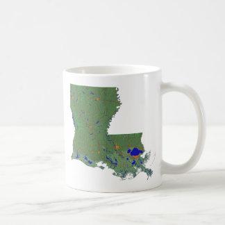 Bandera Louisianan + Taza del mapa