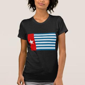 Bandera/lucero del alba del oeste de Papua Camisetas