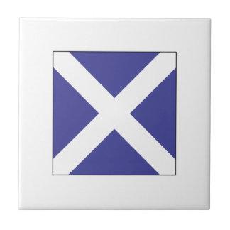 Bandera M del ICS Azulejo Cuadrado Pequeño