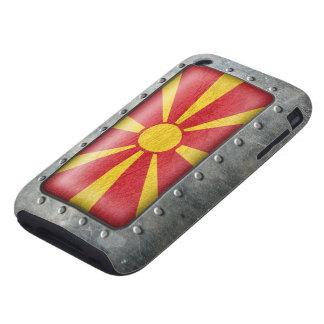 Bandera macedónica industrial carcasa resistente para iPhone
