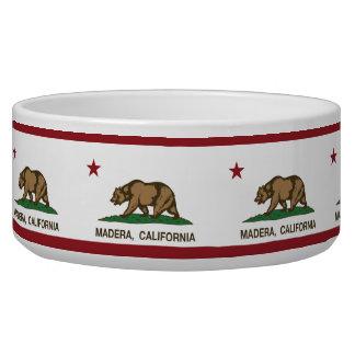 Bandera Madera del estado de California Tazones Para Perro